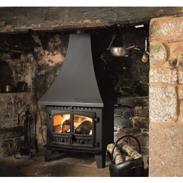 Hunter Low Output Inglenook Stove high canopy