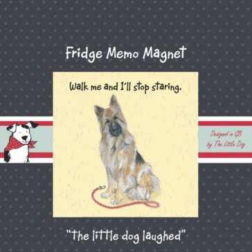 The Little Dog Louis Fridge Magnet