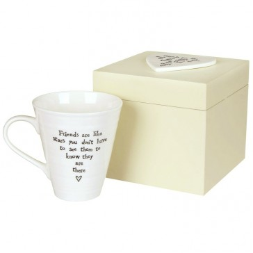 Friends Are Like Stars Mug in Wooden Box