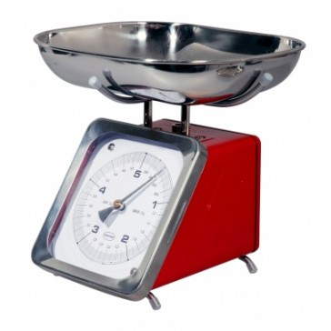 Red Retro Kitchen Weighing Scale
