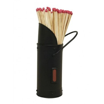 Match Holder with Matches - All Black