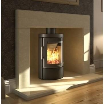 Hwam 3110 wood-burner in the setting