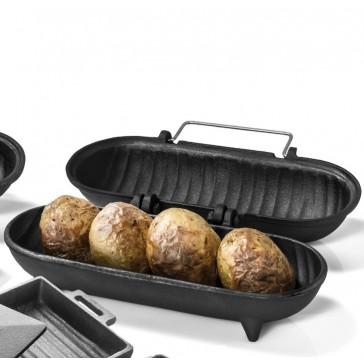 Cast Iron Potato Cooker Large