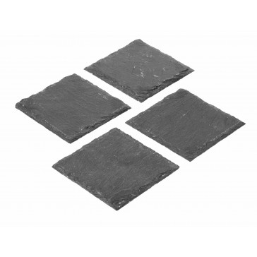 Slate Square Black Coaster