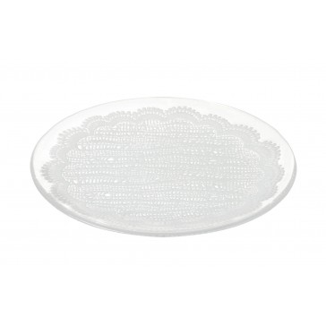 Lace Glass Side Plate
