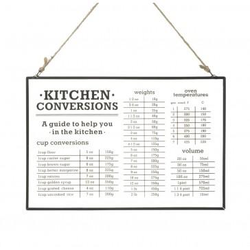 Kitchen Conversions Glass Hanger  By Parlane  H200 x W300 x D5mm - Clear Glass / Black Metal