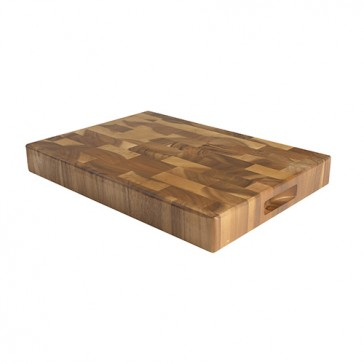 Acacia wood end grain board by T&G - Approx. 260mm x 375mm x 38mm