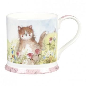 Meadow Cat Fine China Mug