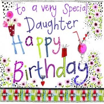 Alex Clark Special Daughter Large Sparkle Card