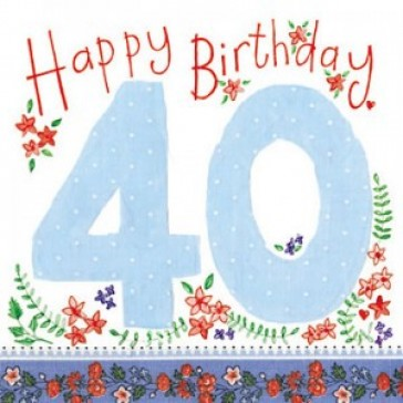 Alex Clark Happy 40th Birthday Large Sparkle Card