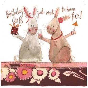 Alex Clark Birthday Girls Large Sparkle Card