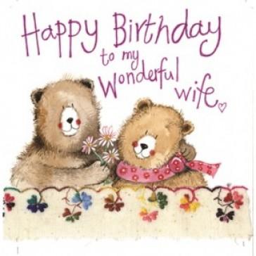Alex Clark Birthday Wife Large Sparkle Card