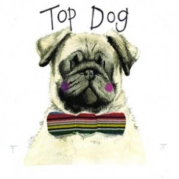 Alex Clark Top Dog Large Sparkle Card