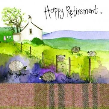 Alex Clark Happy Retirement Large Sparkle Card