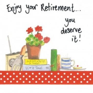 Alex Clark Enjoy Your Retirement You Deserve It Large Sparkle Card