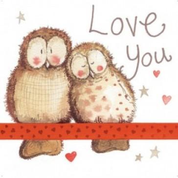 Alex Clark Love You Large Sparkle Card
