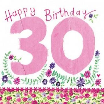 Alex Clark Happy 30th Birthday Large Sparkle Card