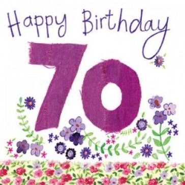 Alex Clark Happy 70th Birthday Large Sparkle Card