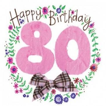Alex Clark Happy 80th Birthday Large Sparkle Card
