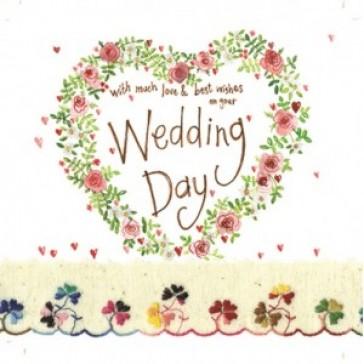 Alex Clark Wedding Day Large Sparkle Card