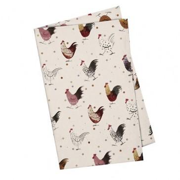 Alex Clark Rooster Tea towels - Set of 2