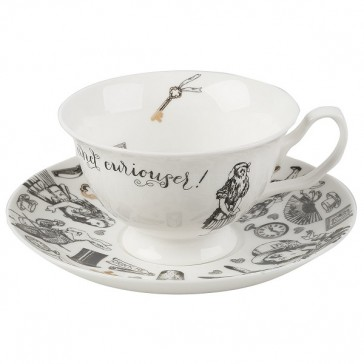 Alice In Wonderland Fine China Teacup & Saucer by Creative Tops