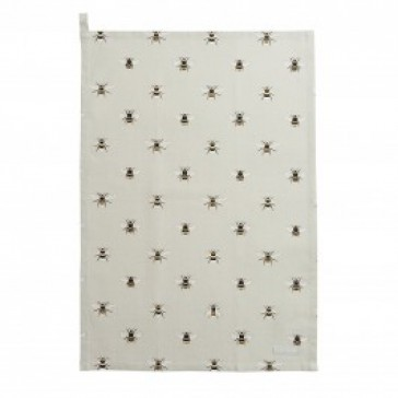 Bees Tea Towel by Sophie Allport