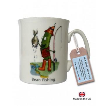 Bean Fishing Mug by The Compost Heap -  Fine Bone China