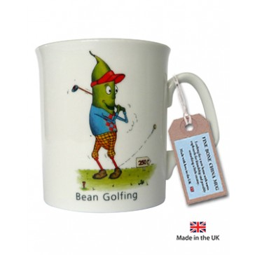 Bean Golfing Mug by The Compost Heap