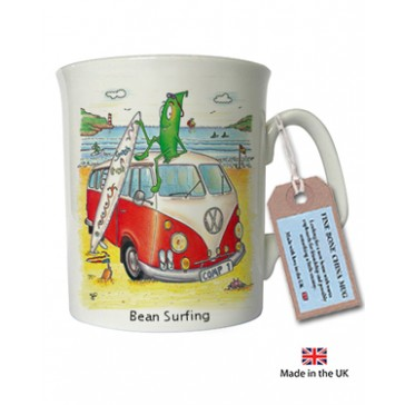 Bean Surfing Mug by The Compost Heap