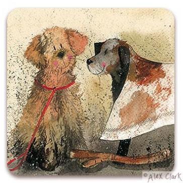 'Mud' Dogs drinks coaster by Alex Clark