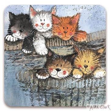 Kittens drinks coaster by Alex Clark