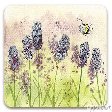 Lavender Drinks Coaster by Alex Clark