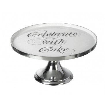 Celebrate with Cake - Polished Aluminium Cake Stand