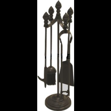 All Black Acorn Top Companion Set