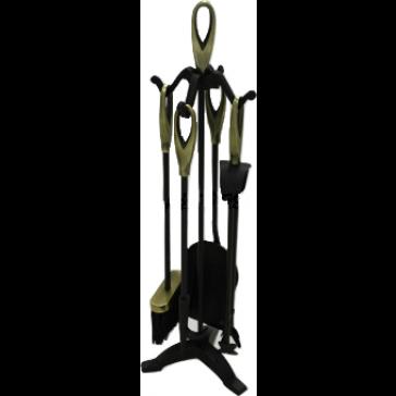 Black & Antique Loop Top Companion Set