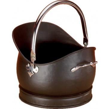 Black & Chrome Kenley Medium Coal Bucket