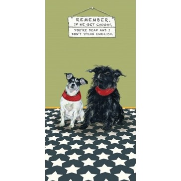 The Little Dog - Caught Greeting Card