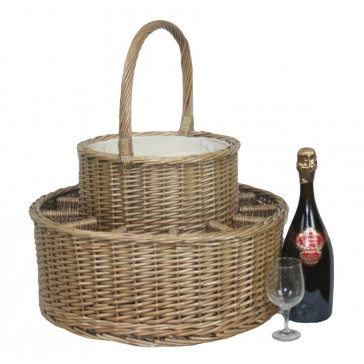Luxury Champagne Basket with Champagne Flutes