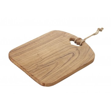 Parlane Acacia chopping board with heart cut-out  240mm x 290mm