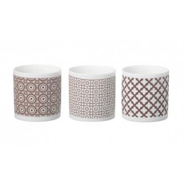 Clifton Brown ceramic tea lights