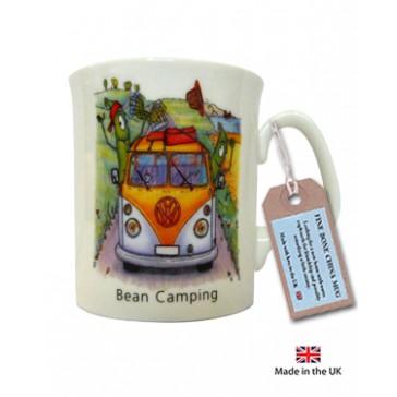 Bean Caravanning Mug with camper van image