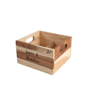 Rustic Wooden Jar & Bottle Crate