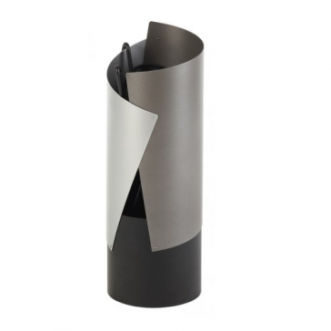 Crescendo Contemporary Firetools in Grey, Aluminium & Black