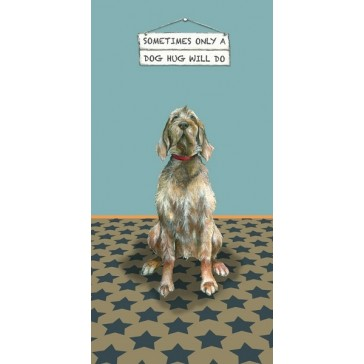 The Little Dog - Dog Hug Greeting Card