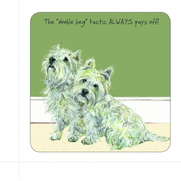 The Little Dog Double Beg Coaster