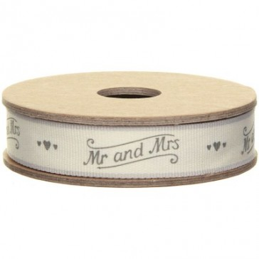 Mr and Mrs Scrolls Fabric Ribbon East of India