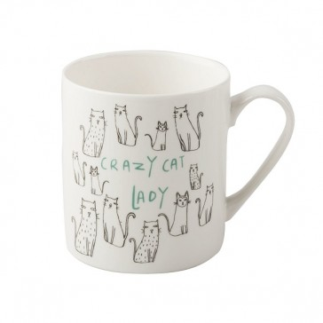 Crazy Cat Lady fine china can mug by Creative Tops