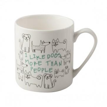 I Like Dogs Fine China Can Mug by Creative Tops.