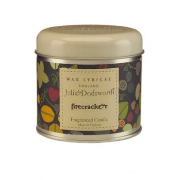 Julie Dodsworth Firecracker Candle Tin - Wax Lyrical